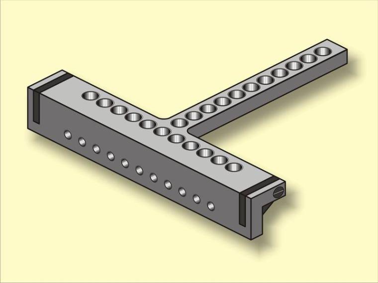 Эскиз кондуктора для сверления отверстий под евровинт.
